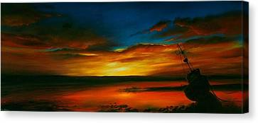 Canvas Print - Evening Tide by Jan Farthing