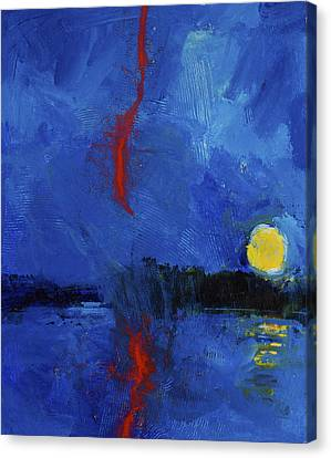 Ever See Red Lightening - Me Neither Canvas Print by Cliff Spohn