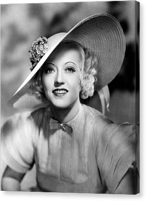Ever Since Eve, Marion Davies, 1937 Canvas Print by Everett