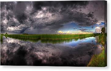 Everglades Reflection Canvas Print by Nick  Shirghio