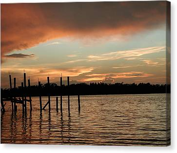 Everglades Sunset Canvas Print by Nancy Taylor