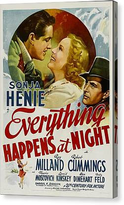 Everything Happens At Night, Robert Canvas Print