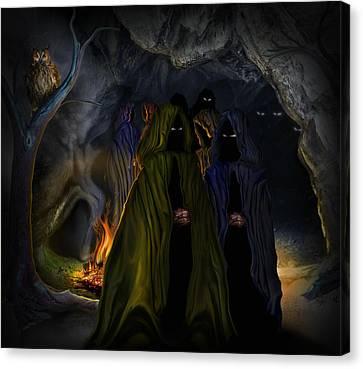 Evil Speaking Canvas Print by Alessandro Della Pietra