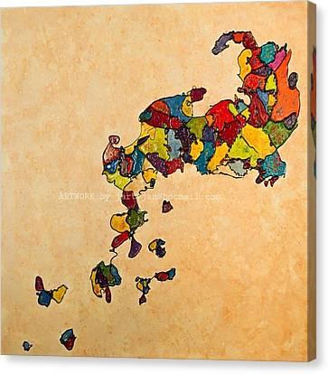 Canvas Print - Evolution V Creationism by Jan Farthing