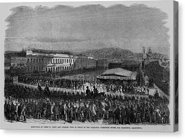 Execution Of James P. Casey And Charles Canvas Print by Everett