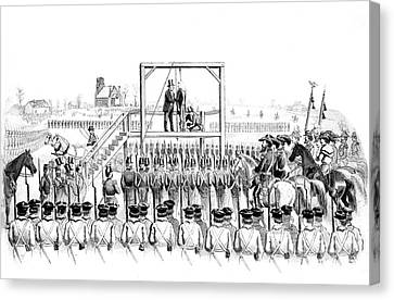 Execution Of John Brown, American Canvas Print by Photo Researchers