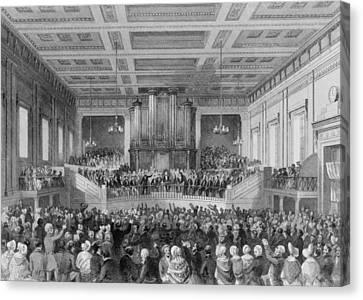 Antislavery Canvas Print - Exeter Hall Filled With A Large Crowd by Everett