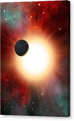 Exoplanet And Parent Star, Artwork Canvas Print by David Ducros