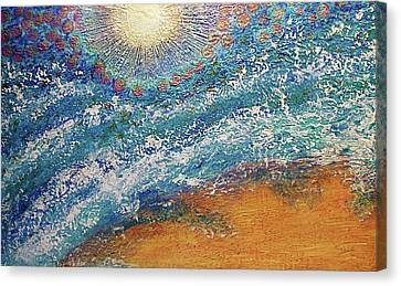 Canvas Print featuring the painting Expansion  Heaven For Pandemonium Set Painting  by D Renee Wilson