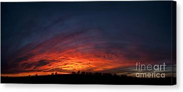 Expansive Sunset Canvas Print by Art Whitton
