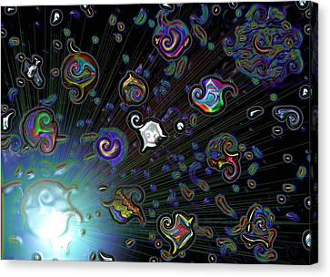 Canvas Print featuring the digital art Exploding Star by Alec Drake