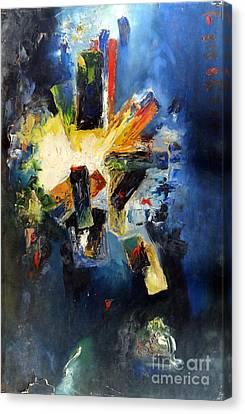 Explosion Canvas Print by Padamvir Singh
