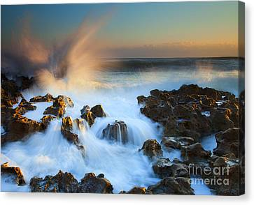 Explosive Dawn Canvas Print by Mike  Dawson