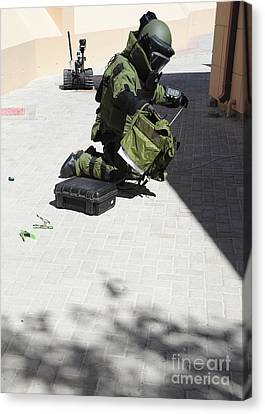 Explosive Ordnance Disposal Technician Canvas Print by Stocktrek Images