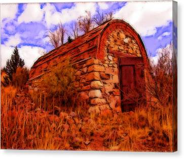 Explosives Shed Canvas Print by Howard Perry