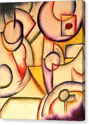 Expressions In Art Cafe Canvas Print