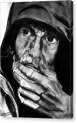Expressive Man Canvas Print