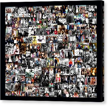 Canvas Print featuring the photograph Extended Family Photo Collage by Maureen E Ritter