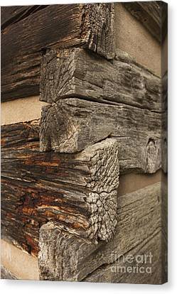 Exterior Corner Of A Wooden Building Canvas Print by Will and Deni McIntyre