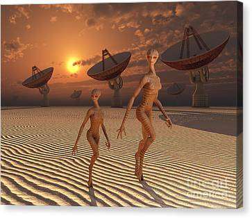 Extraterrestrials Are Believed Canvas Print by Mark Stevenson