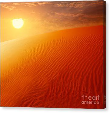 Extreme Desert Land Canvas Print by Anna Om