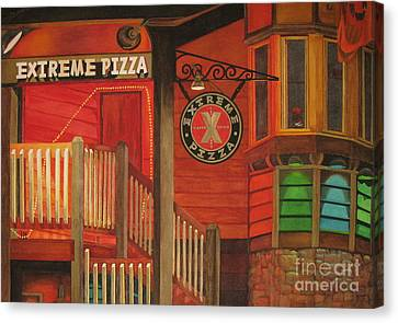 Extreme Pizza Canvas Print by Vikki Wicks