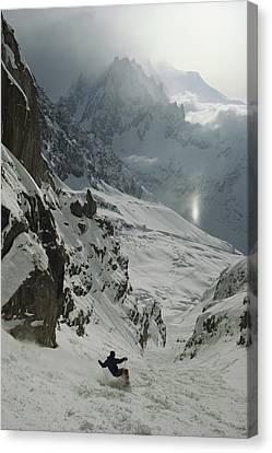 Extreme Skier Jean Franck Charlet Canvas Print by Gordon Wiltsie