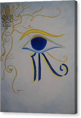Eye Of Horus Nola Style Canvas Print by Marian Hebert
