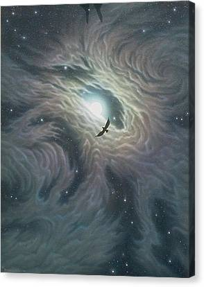 Eye Of The Hunter Canvas Print by Arley Blankenship