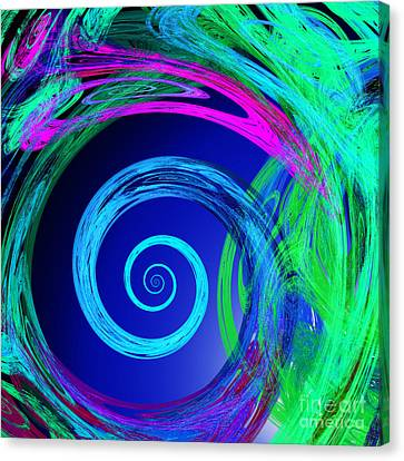 The Nature Center Canvas Print - Eye Of The Hurricane Abstract by Andee Design