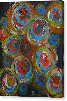 Canvas Print featuring the painting Eyeball by Everette McMahan jr