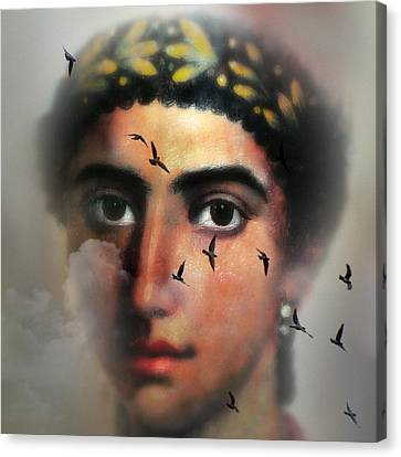 Eyes From The Past Canvas Print by Mostafa Moftah