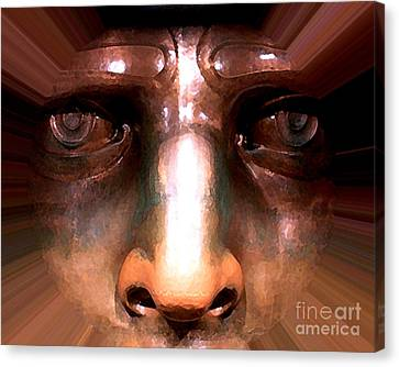 Eyes Of Liberty Canvas Print by Anne Raczkowski
