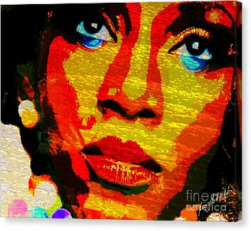 Eyes Of Nigeria - Genevieve Canvas Print by Fania Simon