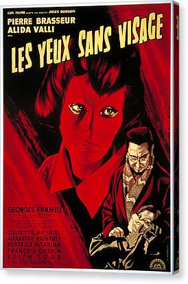 Eyes Without A Face, Aka Les Yeux Sans Canvas Print by Everett