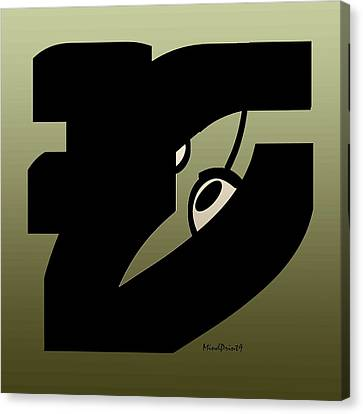 Canvas Print featuring the digital art Eyewitness by Asok Mukhopadhyay