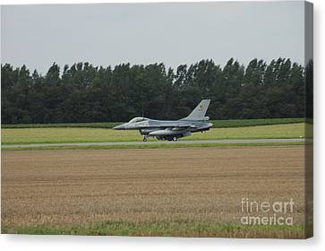 F-16 Of The Belgian Air Force Ready Canvas Print by Luc De Jaeger