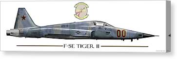 F-5e Tiger II Canvas Print by Clay Greunke