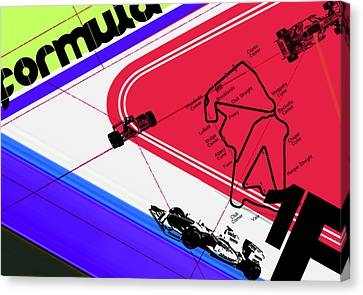 F1 Canvas Print by Naxart Studio
