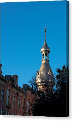 Canvas Print featuring the photograph Facade And Minaret by Ed Gleichman