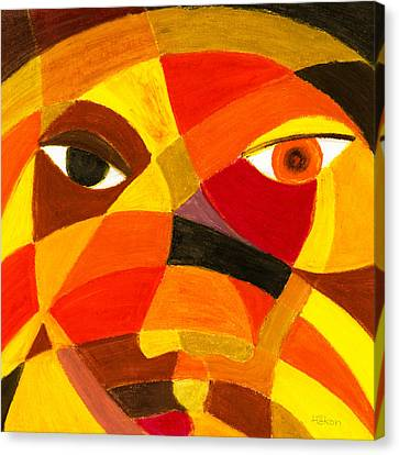 Face 45 Canvas Print by Hakon Soreide