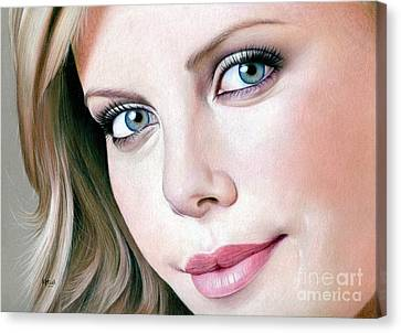 Face Of Symmetry Canvas Print by Karen Hull