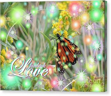 Facebook Love Canvas Print by Laurence Oliver