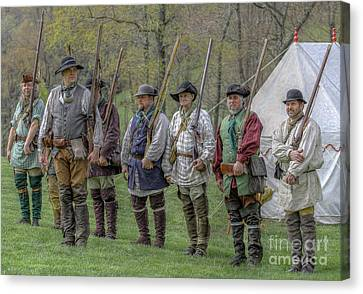 Faces Of The American Revolution Militia Soldiers     Canvas Print