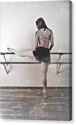 Faded Ballerina Canvas Print by Scott Sawyer