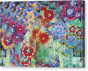 Fading Flower Power Canvas Print by Marilyn West
