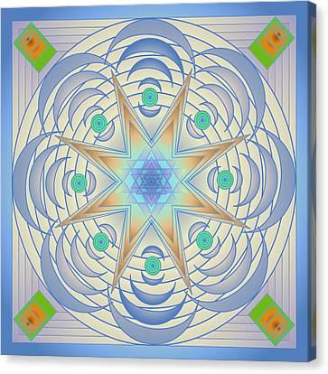 Canvas Print featuring the digital art Fading Geometrics by Mario Carini