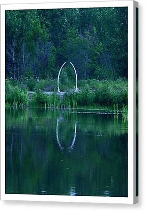 Canvas Print featuring the photograph Fairbanks Indian Center by Frank Wickham