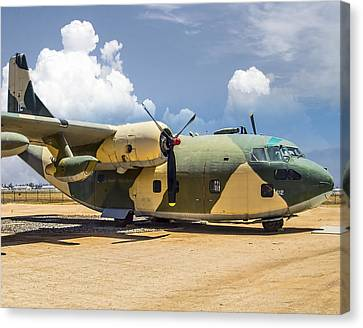 Canvas Print featuring the photograph Fairchild C-123  by Steve Benefiel
