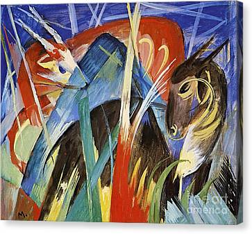Fairy Animals Canvas Print by Franz Marc